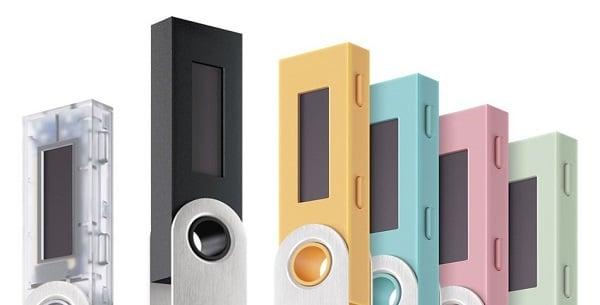 Varianti di colore del Ledger Nano S